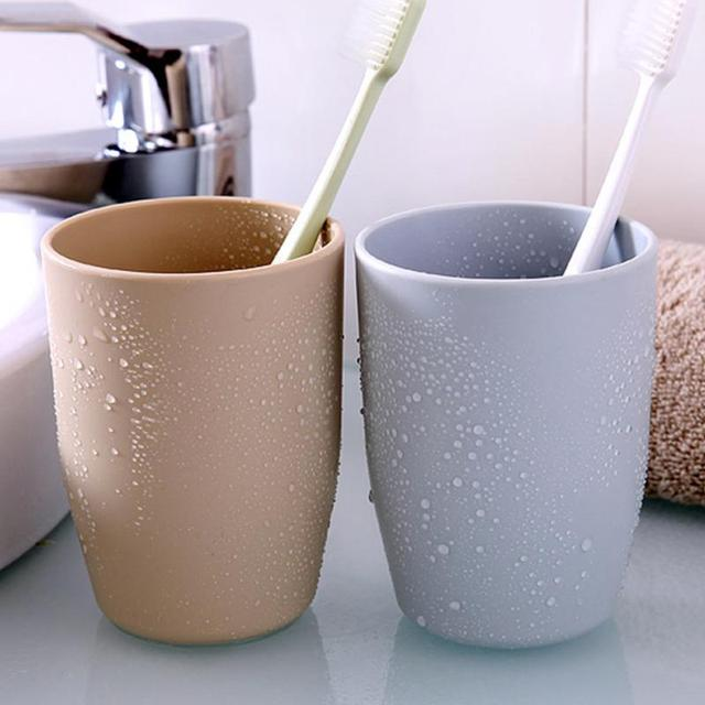 Japanese-style Thick Circular Cups Toothbrush Holder Cup 350ml PP Rinsing Cup Wash Tooth Mug Bathroom Sets