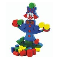 1 stück baby clown balancing holz bunte geometrische montieren holz balance blöcke kinder kind lernen lernspielzeug geschenk box