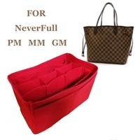NeverFull PM MM GM Felt Insert Bag Organizer Makeup Handbag Organizer Travel Inner Portable Cosmetic Original Organize Bags