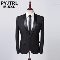 PYJTRL Brand Casual Mens Black Suit Jacket Banquet Party Wedding Groomsman Business Blazer Masculino Stage Costumes