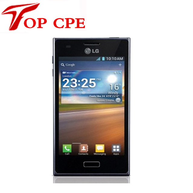 отремонтированы e610 оригинальный lg телефон lg optimus l5 unlcoked сотовый телефон 5.0mp камера 4g rom+ 512m барана 3g android телефон