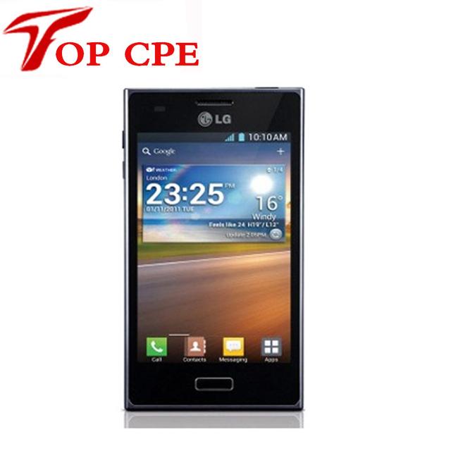 Restaurado lg optimus l5 e610 original lg teléfono unlcoked teléfono celular 5.0mp 4g rom + 512 m ram 3g teléfono android