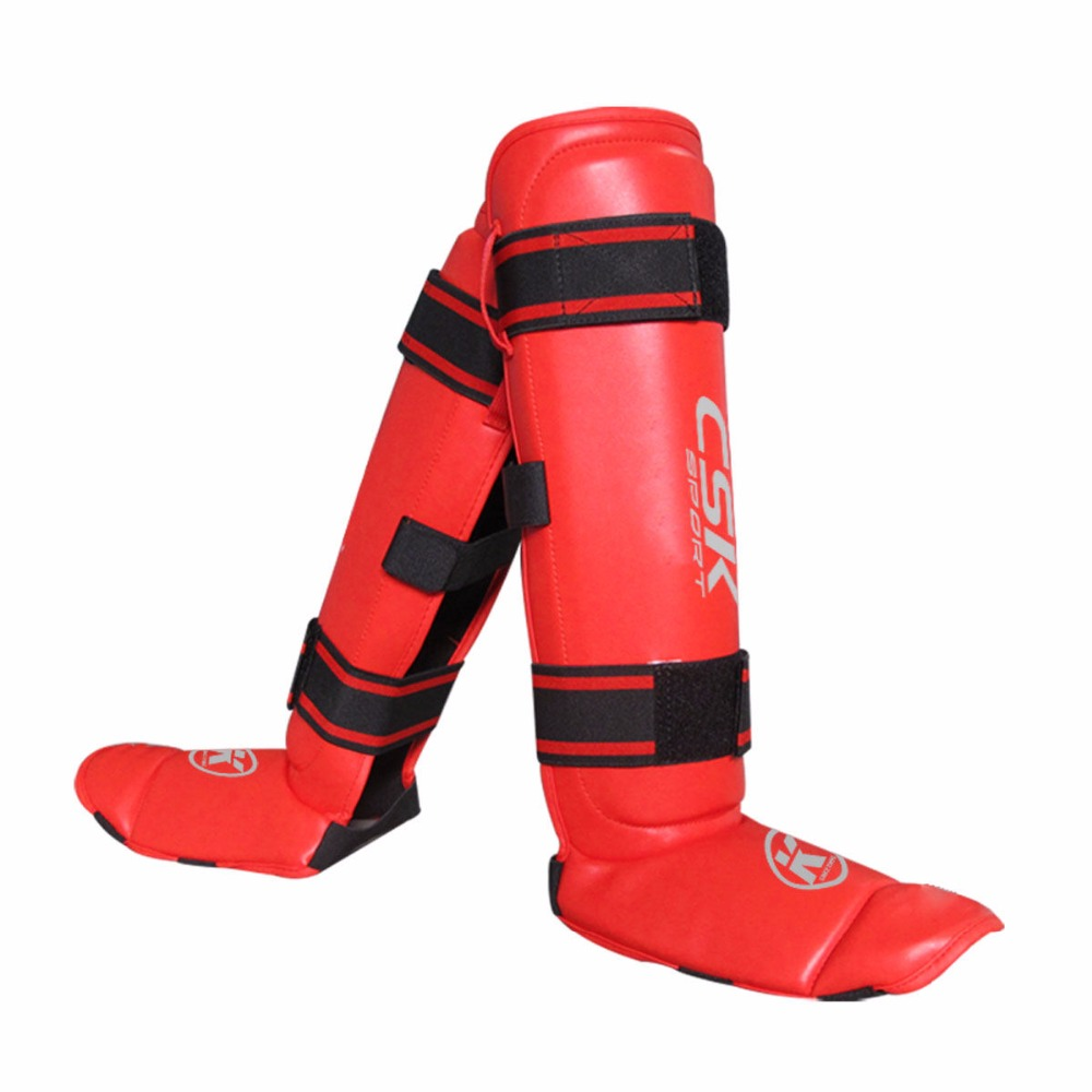 Shin Guards kick boxing protector Sanda taekwondo boxing Leggings Ankle protection for MMA Muay thai shin pads