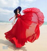 สีแดงชีฟอง ชุดสุภาพสตรีเซ็กซี่ลึก longue ฤดูร้อน