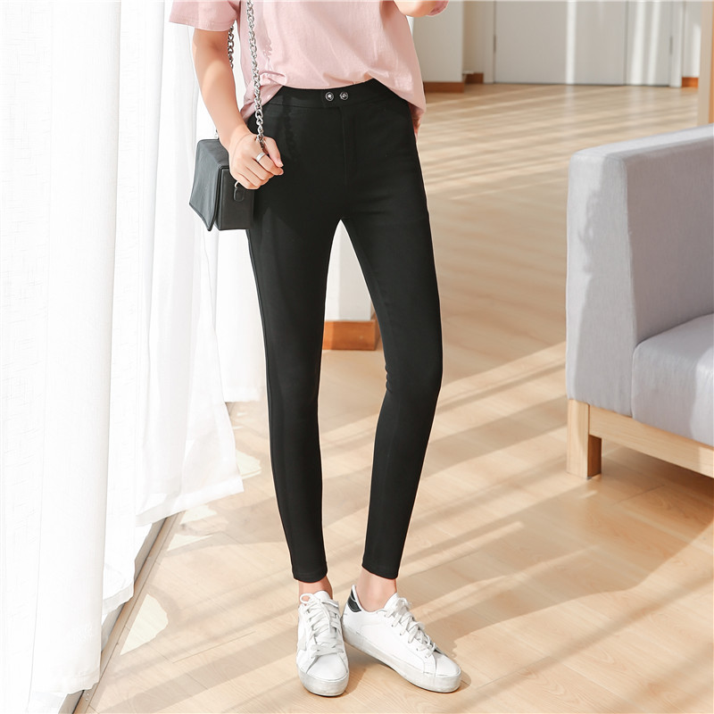 Magic Pants Women Skinny Black Skinny Capris Pants Trousers Slim ...