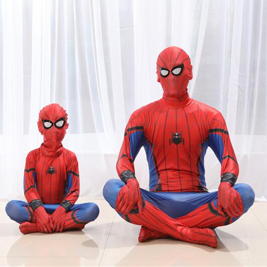 New Marvel Legends Spiderman Homecoming Suit Adult Spiderman Costume Kids Spider Man Mask Birthday Party Cosplay Clothing