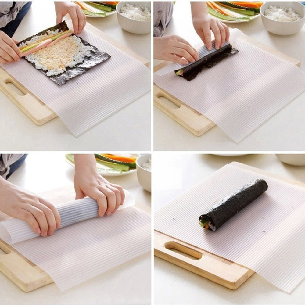 DIY Silicone Sushi Rolling Mat Sushi Curtain Nonstick Rice Cooking ...