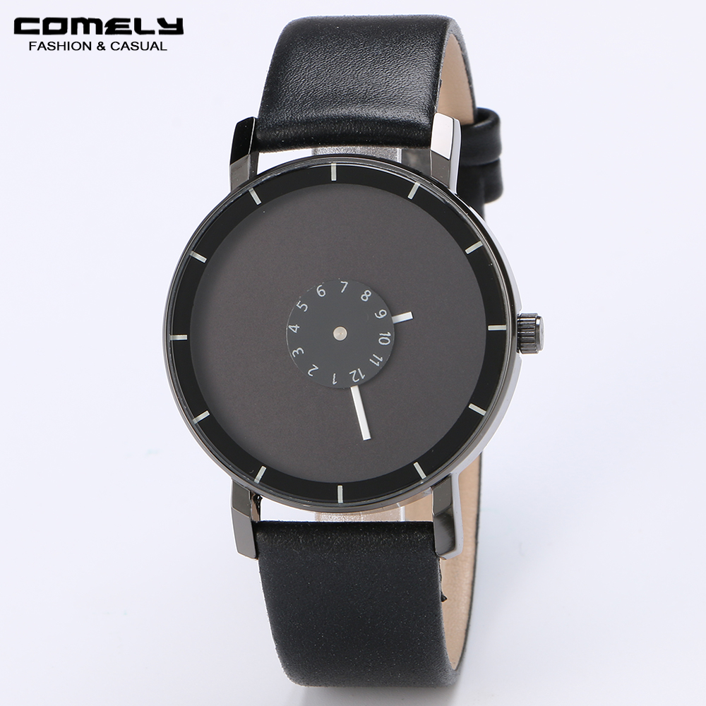 New Hot Sale Leather Strap Watch for Men Casual Life Waterproof Analog Quartz Wristwatches with battery 2016 new hot sale brand magic star black white analog quartz bracelet watch wristwatches for women girls men lovers op001