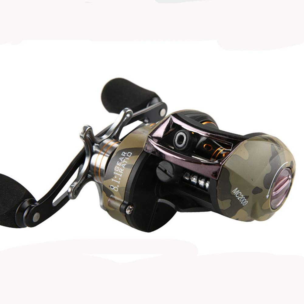 Baitcasting Reel 11 Lb Powerful Drag Casting Reel 7.2:1 Gear Ratio Ultra Smooth Powerful Fishing Reel 4 +1 BB Casting Fishing Re(China)