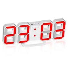 Brightness Adjustable Electronic LED Digital Alarm Clock Desk or Wall Mount Large LED Digits Highly Visible for Living Room Home