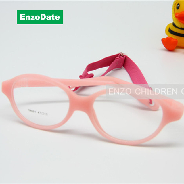 a4c1876ba4 Gafas de una pieza para niños sin tornillo con lentes de Plano tamaño 47mm,  gafas