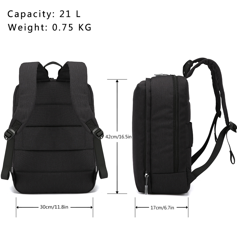 8cbe74f394eb Laptop Backpack with USB Charging Port and Earphone Plug for 14 17.3 Inch  Laptop for Men and Women Business School Bag Mochila Tags