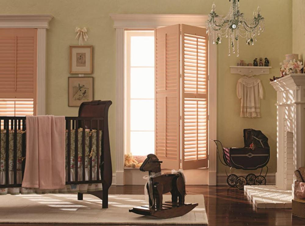 Interior Bi-fold Shutter Door Solid Wood Window Shutters
