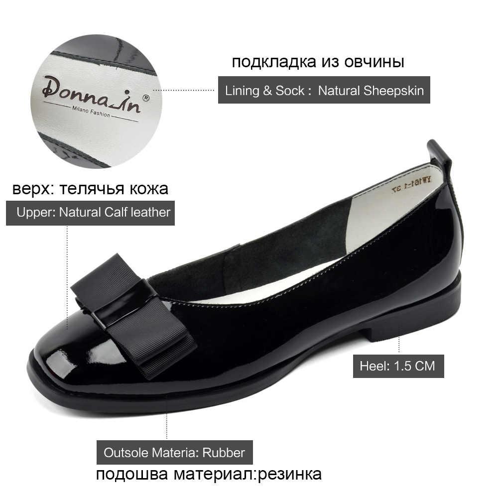 d8d542f99 ... Donna-in/Балетки на плоской подошве, женские балетки из натуральной  кожи, Летние ...