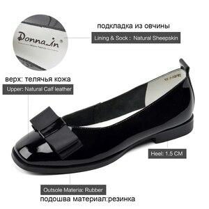 Image 5 - Zapatos de Ballet Donna in, zapatos de boda para mujer, mocasines de cuero para mujer, zapatos de diseñador Bowknot, zapatos casuales de verano para mujer