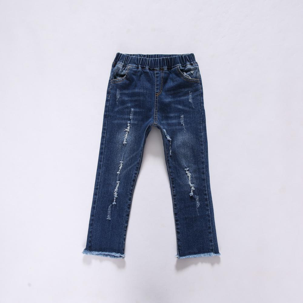 2017 spring new Europe and the USA male and female straight stretch jeans Slim children's trousers in children's wild tide pants