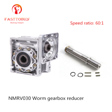 Соотношение скорости 60: 1 RV30 червячная коробка передач редуктор скорости NMRV030 червячный редуктор для NEMA23 Sevor/шаговый двигатель NMRV030-60