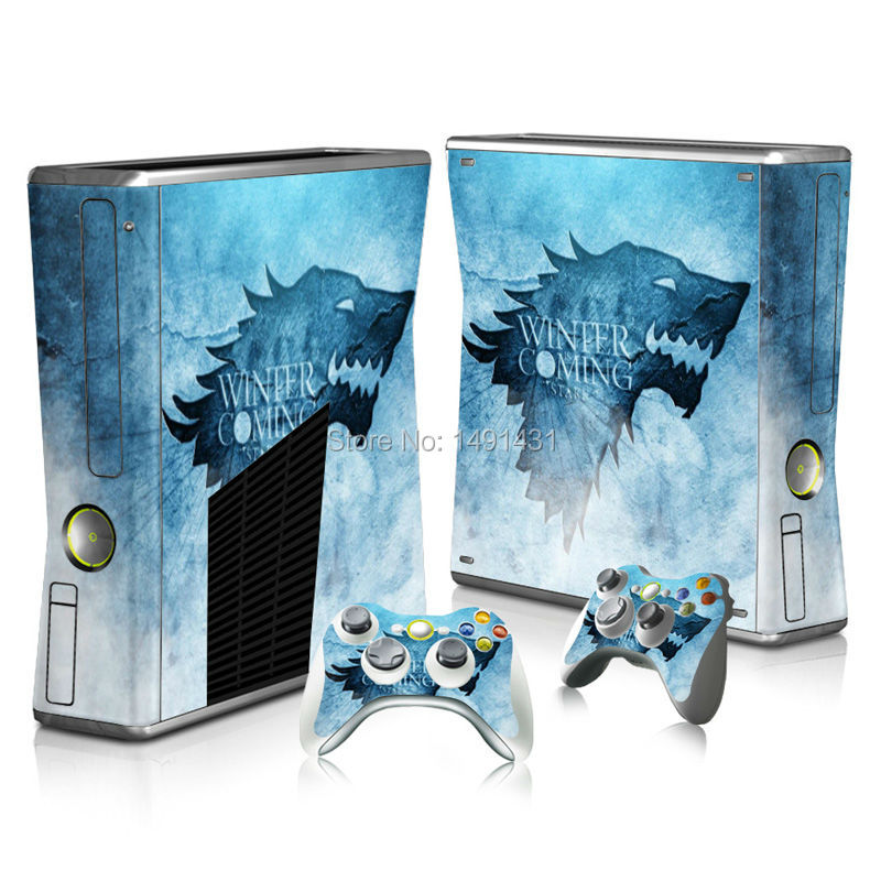 Skin Sticker For XBOX 360 Slim & 2 Controller Cover Video Game For Xbox Vinyls Stickers