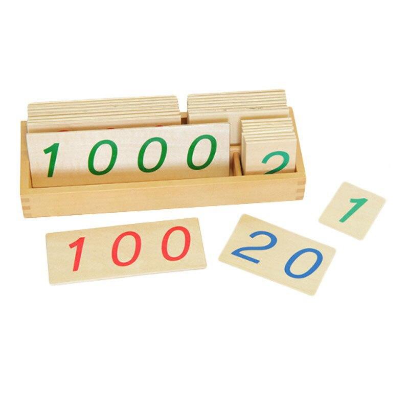 Montessori Maerials Montessori grand nombre cartes 1-9000 comptage jouets éducatifs pour les tout-petits Juguetes Montessori ME2164H