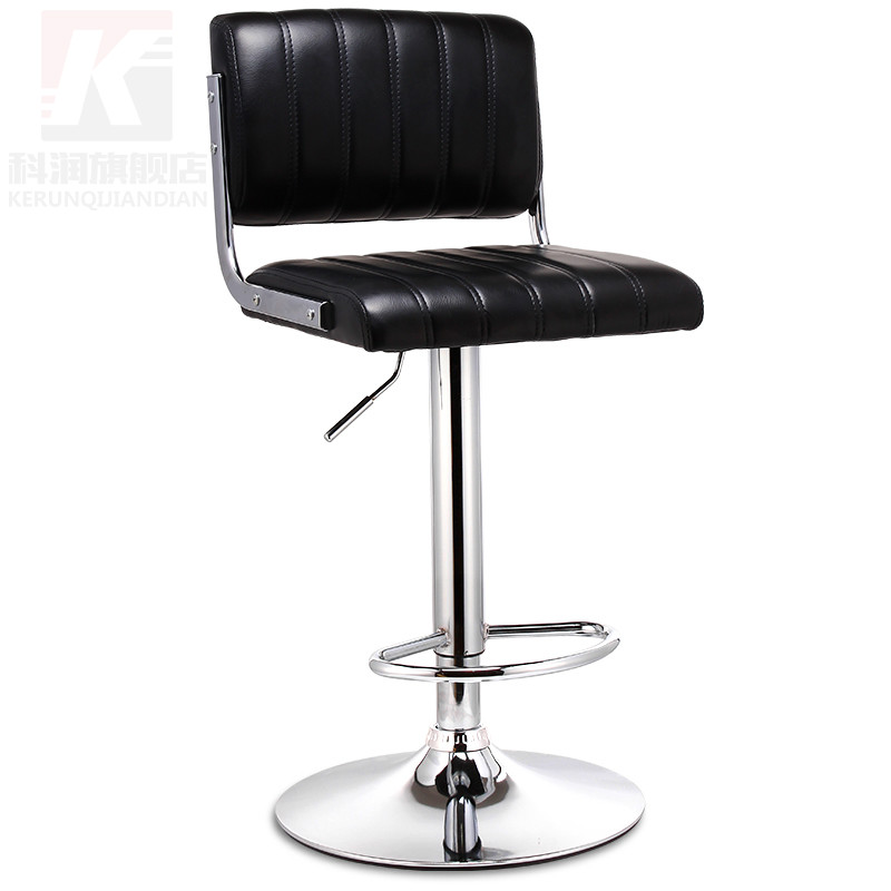 Chair backrest stool stool European high foot lifting chair stool domestic high quality modern minimalist bar chairs continental bar chairs rotating chair lift back bar stool reception tall silver beauty makeup chair