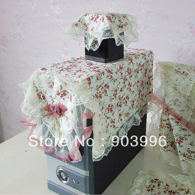 Computer hood group series 22 inch LCD computer hood/lace cloth art computer set of dust cover