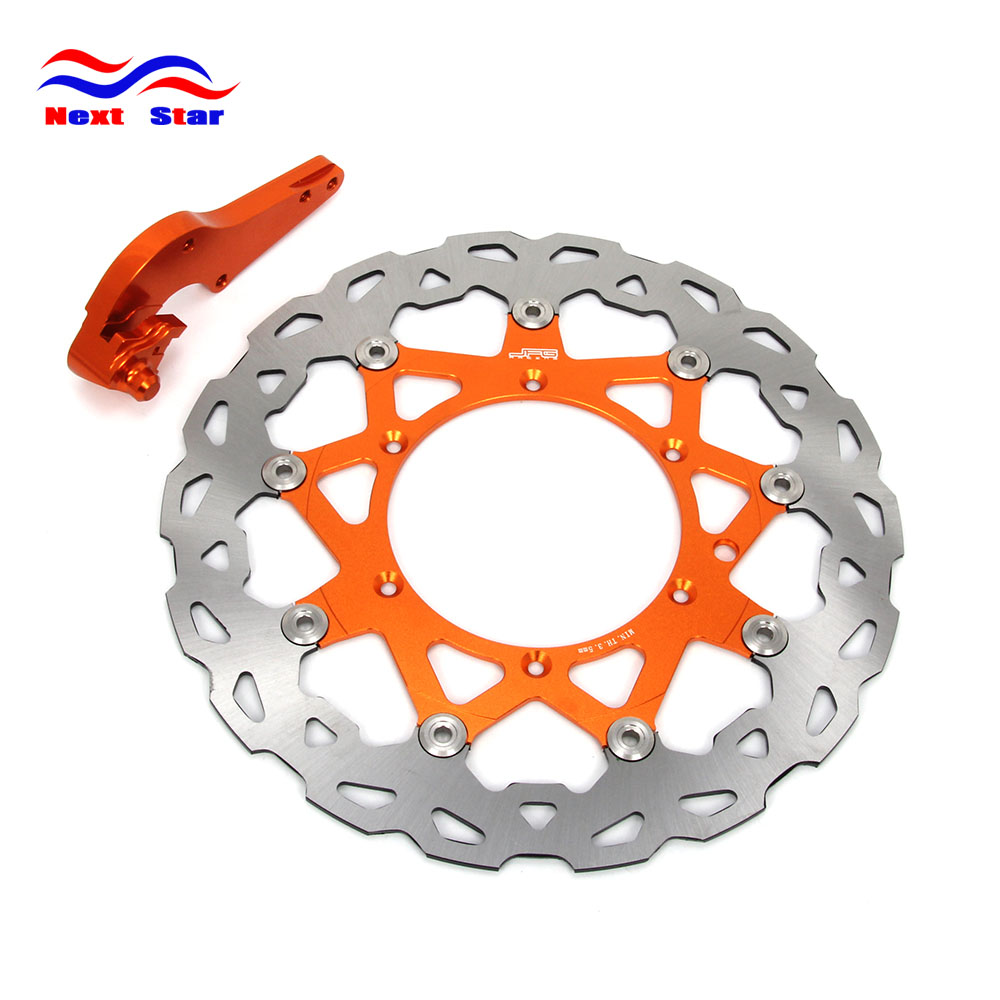 Motorcycle 320MM Front Floating Brake Disc Rotor & Adapter Bracket For KTM EXC EXCF EXCG EXCR LC4 SC SX SXF SXS XCF XCW XC 2015
