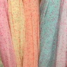 swiss dot chiffon printed chiffon fabric soft breathable DIY dress blouse fabric