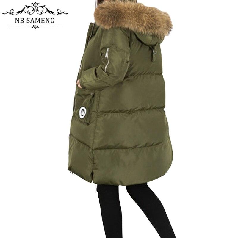 2017 Winter Jacket Women 100% Natural Raccoon Fur Collar White Duck Coats Long Thick Parkas Womens Winter Jackets And Coats aiyangsilan women natural raccoon fur collar jackets causal hooded down inside coats full sleeve zipper solid winter jacket