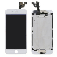1pcs lcd touch screen with home button and front camera replacement part digitizer assembly for iphone6 display 4.7 inch