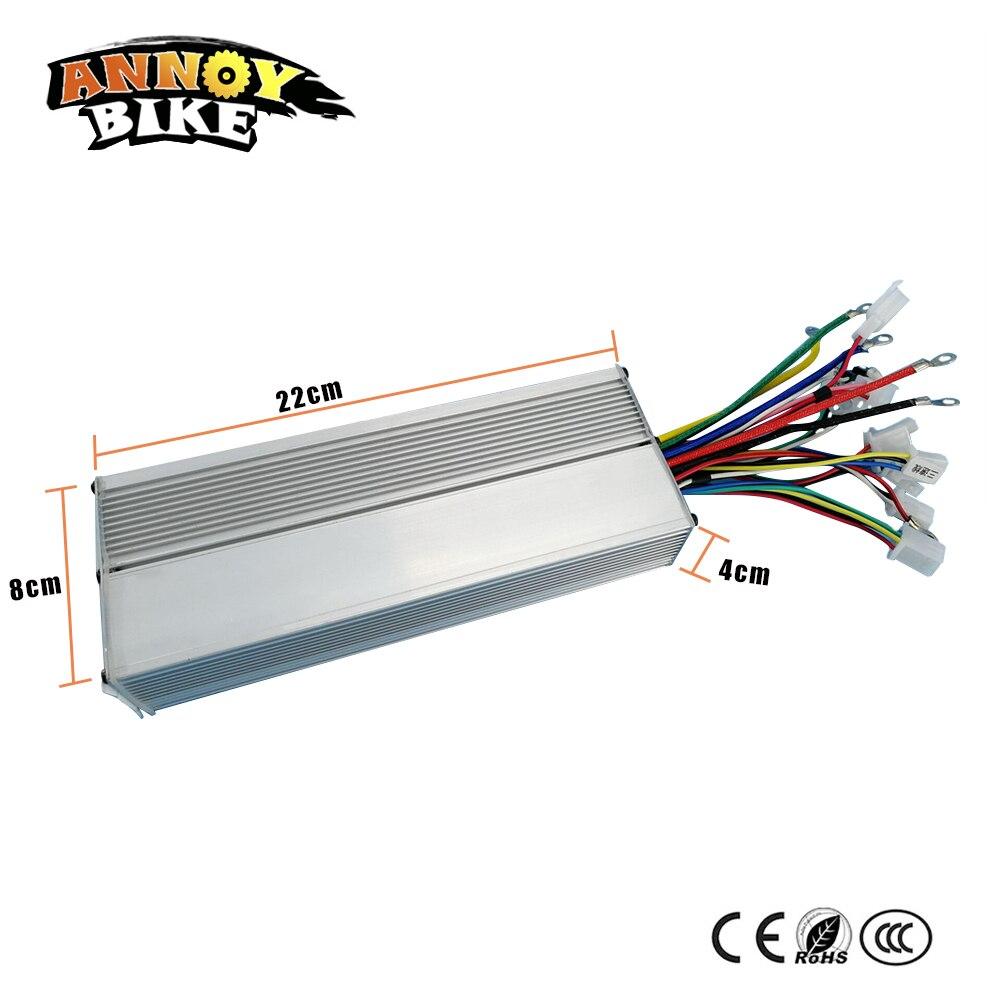 48V60V72V96V Dual mode 18 mosfet 1000 W controlador brushless DC onda senoidal 45Amp noiseless controlador de veículo elétrico