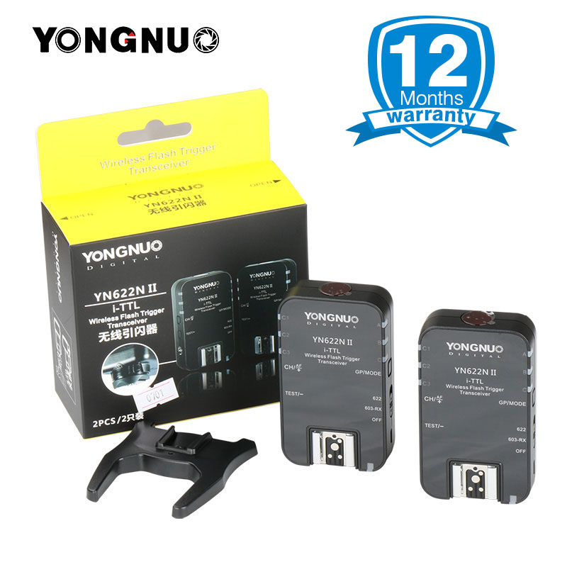 YONGNUO YN-622N II YN622N II TTL Flash Trigger Transceiver transmitter for Nikon D80 D90 D300 D700 D800 YN685N YN568EX speedlite yongnuo yn e3 rt ttl radio trigger speedlite transmitter as st e3 rt compatible with yongnuo yn600ex rt