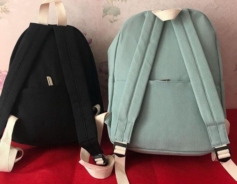 HTB1T8q4MHPpK1RjSZFFq6y5PpXac 2019 Women Canvas Backpacks Ladies Shoulder School Bag Backpack Rucksack for Girls Travel Fashion Bag Bolsas Mochilas Sac A Dos