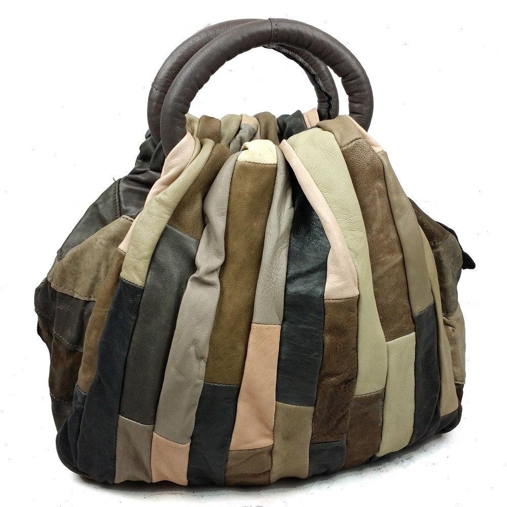 NIUBOA Women Genuine Leather Handbags Mini Skin Bolsas High Quality Lady Hobos Natural Cowhide Casual Shopping Shoulder Bags-in Shoulder Bags from Luggage & Bags    3