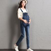 Adjustable Buttons Denim Maternity Overall Pants Jeans For Pregnant Women Strap Braced Jumpsuits Pregnancy Suspenders Uniforms