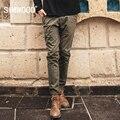 SIMWOOD 2017 Новая Коллекция Весна Мода Брюки Мужчины Винтаж длинные Повседневные Брюки Шаблон Хлопка KX5533