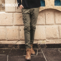 SIMWOOD 2017 New Spring  Fashion Pants  Men Vintage long Casual  Trousers  Pattern Cotton   KX5533