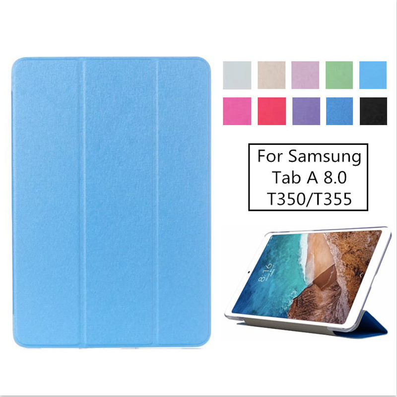Luxury Stand Pu Leather Case Cover For Samsung Galaxy Tab A 8.0 2016 T350 T355 SM-T355 tablet funda casesLuxury Stand Pu Leather Case Cover For Samsung Galaxy Tab A 8.0 2016 T350 T355 SM-T355 tablet funda cases