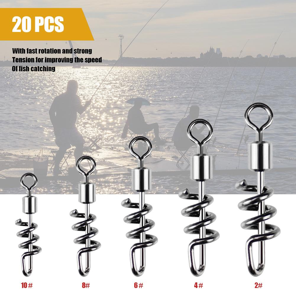 2pcs Ball Bearing Coastlock Snap Connector Fast Swivels Sea Fishing Tackle