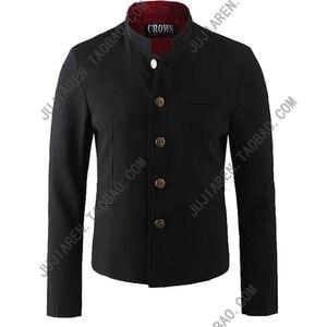 Image 5 - Free Shipping New Japanese senior middle school uniform male mens Suzura slim blazer chinese tunic jacket top Korean coat