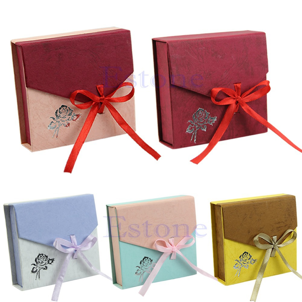 jewelry box New Square Package Bracelet Bangle Jewelry Bowknot Display Box Gift Present Case Packaging Box jewelry organizer