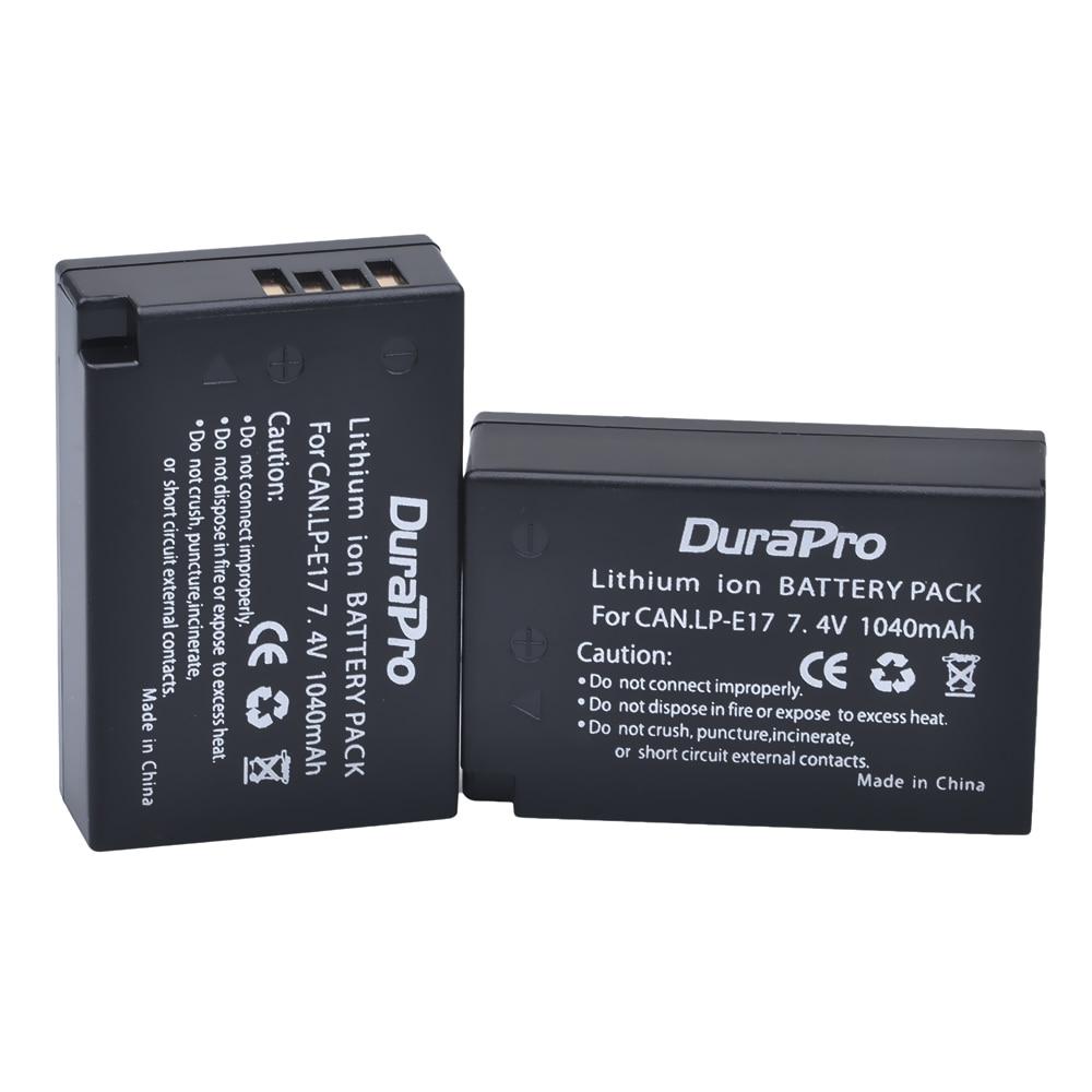 2pc LP-E17 LPE17 LP E17 7.4V 1040mAh Rechargeable Li-ion Battery for Canon EOS Rebel T6i 750D T6s 760D M3 800D 8000D Kiss X8i стоимость