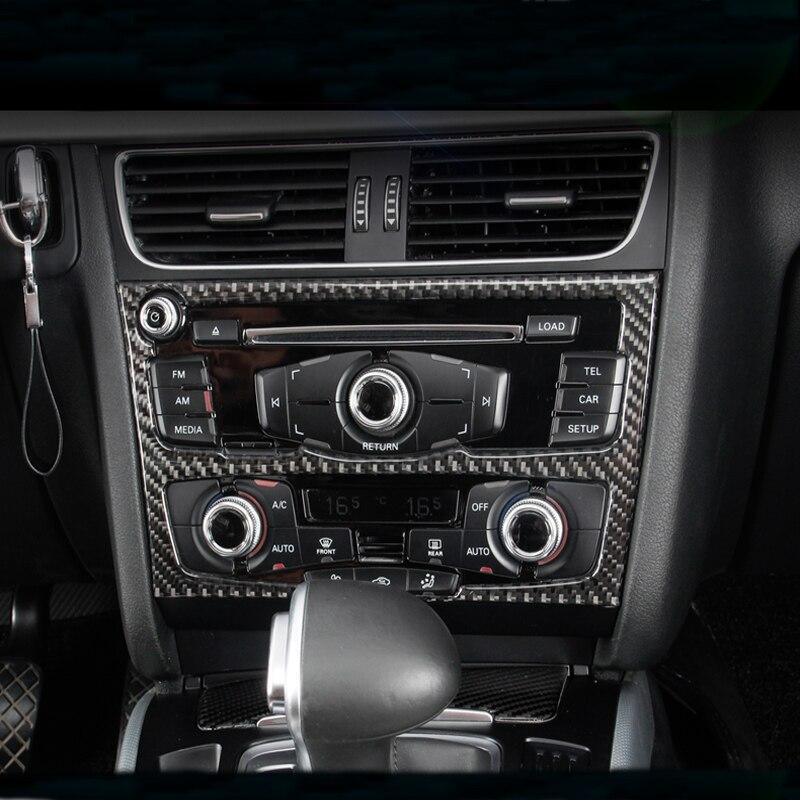 Carbon Fiber Interior Gear Shift Panel Decoration Cover Trim For Audi A4L Q5 A5