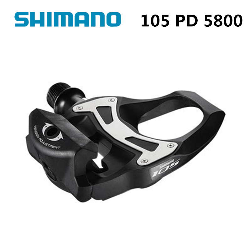 Shimano 105 PD 5800 Road cycling self-locking pedal SPD-SL Carbon clipless pedals shimano pd r550 spd sl clipless road pedals cycling road self locking pedal