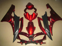 Injection molding free customize fairings For Yamaha R6 06 07 wine red black bodywork fairing kit YZF 2006 2007 YT15