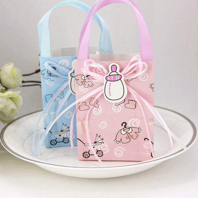 50pcs Cartoon Baby Shower Paper Candy Box For Guests Kids Birthday