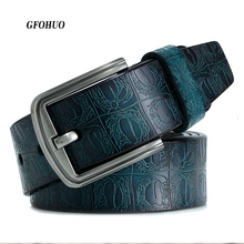 Neue produkt marke luxus design pin schnalle echtes leder rindsleder gürtel jeans gürtel für männer business cowboy gürtel Heißer Verkauf