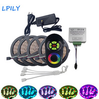 LPILY IP20 Non Waterproof 2835 RGB LED Strip Light Led 20M SMD RF Touch Wireless Dimmer