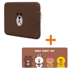 New Brown Bear Bag Mouse Pad 11 13 15.6 Inch For Macbook Air Pro 15 Laptop Tablet Case Computer Sleeve Pocket