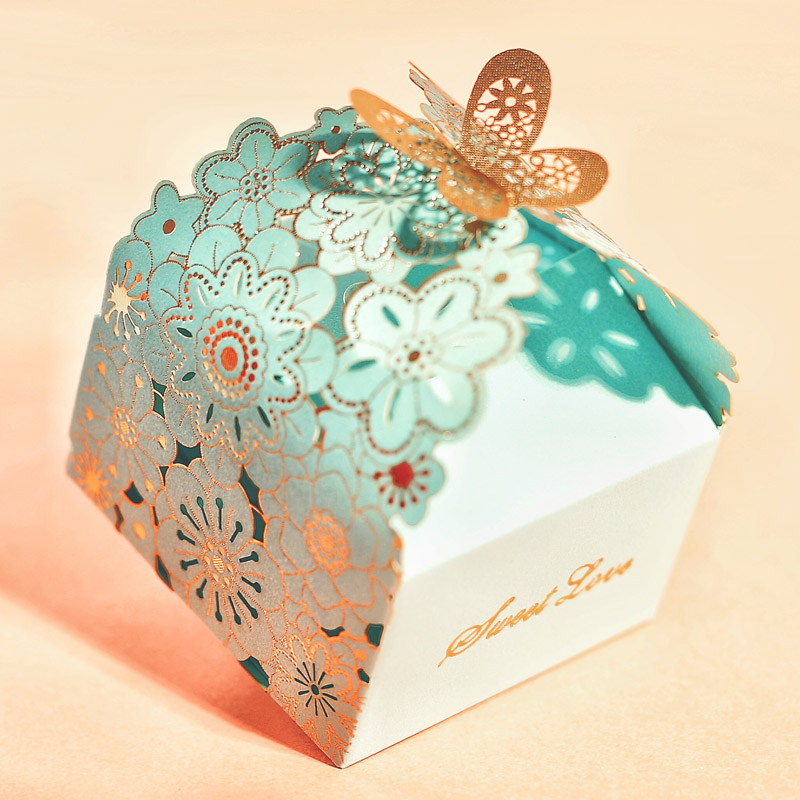 30pcs/lot Korean Style Candy Storage Box With Butterfly Chocolate Box For Guests Hollow  ...
