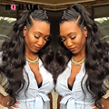 BQ Hair 8A Peruvian Virgin Hair Body Wave 360 Lace Frontal With 3 Bundles  Human Hair Lace Front Black Women